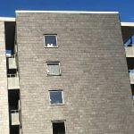 Takskiffer Castillo enkeltäckning på fasad på bostadshus