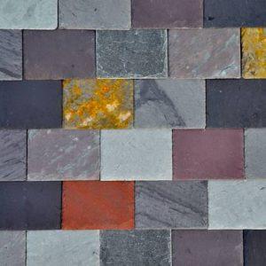 Mix av fasadskiffer i olika färger