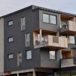 Vid fasadrenovering i Svängsta användes takskiffer Nordskiffer Classic för fasad