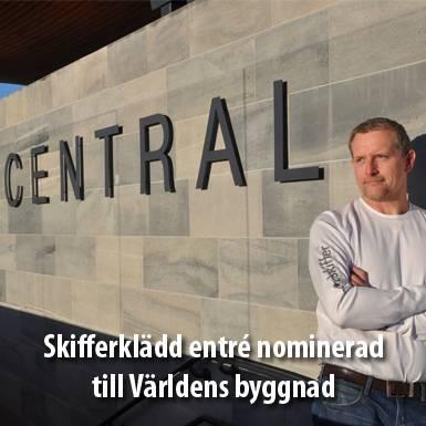Nordskiffers skifferklädda vägg nominerad till Världens byggnad