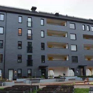Nya Hovås, Takskiffer Nordskiffer 200 på fasad i enkeltäckning