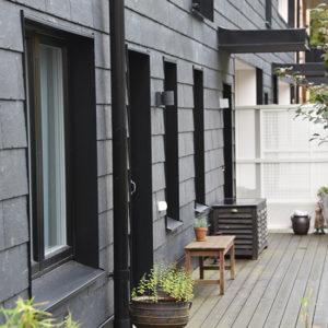 Nordskiffer 200 satt i enkeltäckning i Hovås, Göteborg