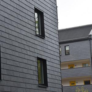 Takskiffer på fasad. Nordskiffer 200, Nya Hovås