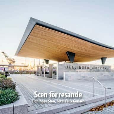 Tidningsartikel om Nordskiffer, Scen för resande