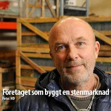 Tidningsartikel om Nordskiffer, Företaget som byggt en stenmarknad