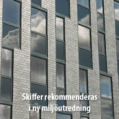 Tidningsartikel om Nordskiffer, Skiffer rekommenderas i ny miljöutredning