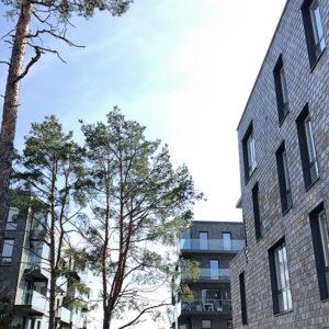 Skifferfasad monterad på fasadsystem Nordclad - Projekt Tollare