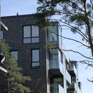 Projekt Tollare, Takskiffer på fasad - Multicolor Samaca