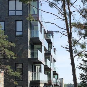 Projekt Tollare i Nacka - Utopia. Multicolor takskiffer på fasad