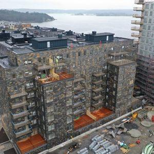 Fyrtornet klätt med takskiffer Otta Rost