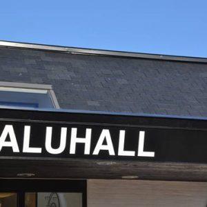 Viken - Saluhall takskiffer Samaca Classic i dubbeltäckning på tak
