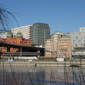 Tak och skifferfasad på Tegnérs torn - Stockholm