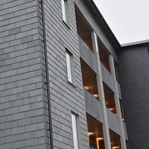 Nordskiffer Grön och Samaca Svart på projekt Dansbanan i Norrköping