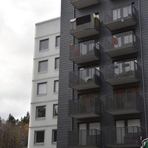Samaca Classic takskiffer på fasad monterad i liggande enkeltäckning - Gaffelseglet