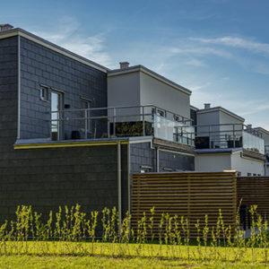 Projekt Knut den stores väg - Castillo takskiffer på fasad - enkeltäckning