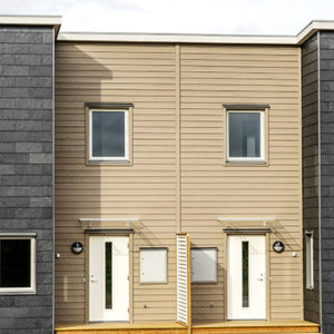 Hus klädda med takskiffer på fasad - Nordskiffer 80, Satt i enkeltäckning