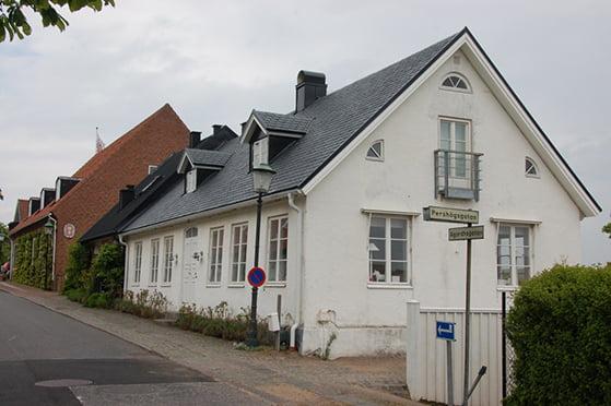 Bostadshus i Båstad med skiffertak Nordskiffer Classic