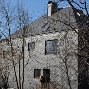 Stockholm, Nacka - Projekt Thiel med takskiffer på fasad - Samaca 55