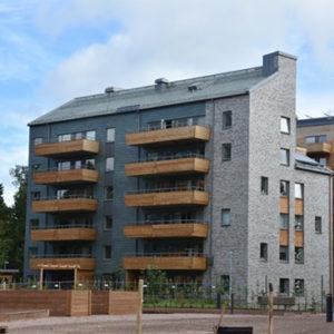 Projket Aspö - Nordskiffer Grön, takskiffer på fasad