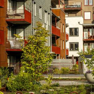 Fasader klädda med Lugano skiffer - Slätpricken i Västerås