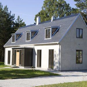 Projekt Västerhejde, hus med Samaca Classic skiffertak ifrån Nordskiffer
