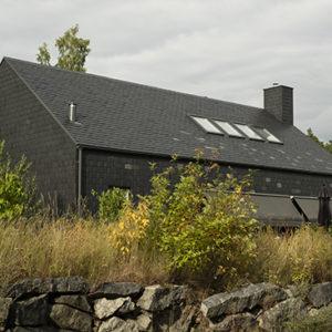 Projekt Villa Hallgren, Skiffer på tak och fasad i Göteborg