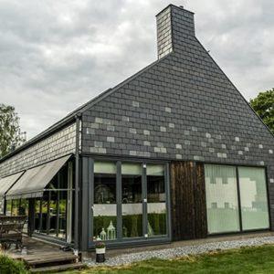 Takskiffer på fasad - Welsh Slate skiffer i Göteborg