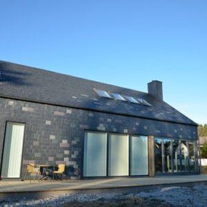 Göteborg takskiffer på fasad - Villa Hallgren