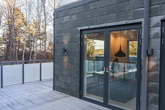 Projekt Villa Pilebo - Stenungsund. Lugano takskiffer på fasad