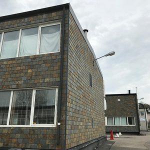 Takskiffer på fasad - Kållered