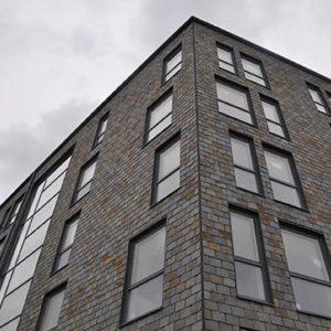Helsingborgshem, Helsingborg, Fasader klädda med takskiffer