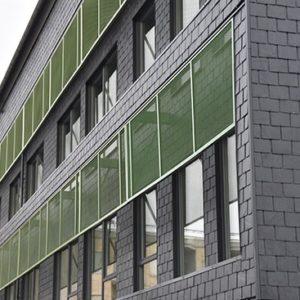 Estethuset i Norrköping med skifferfasad - takskiffer monterad på fasad
