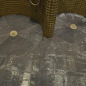 Duschar med skiffer i mönster från Welsh Slate, Varberg spa