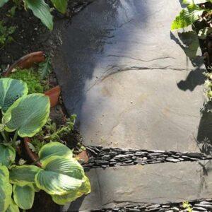 Trädgårdsgång natursten skiffer Rustik oregelbunden