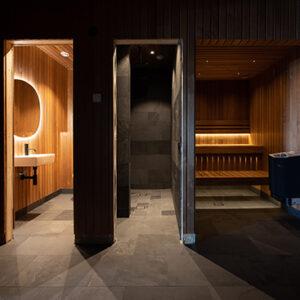 Samaca Svart i badrum -Sälen, golv och väggar